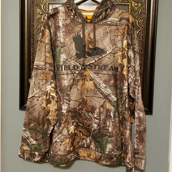 0e052925ca9c4 Field & Stream Shirts   Field Stream Camo Hoodie Nwt Fleece Lined 4x ...